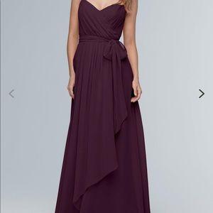 WToo Bridesmaid dress - Style 102; color Aubergine